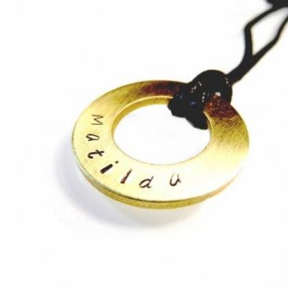 Hand Stamped Jewelry - Necklace - p..