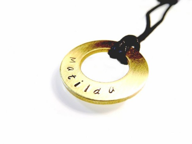 Hand Stamped Jewelry - Necklace - personalized, hand stamped with your text!