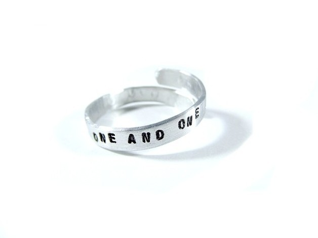 Hand Stamped Jewelry - Personalized Adjustable Ring