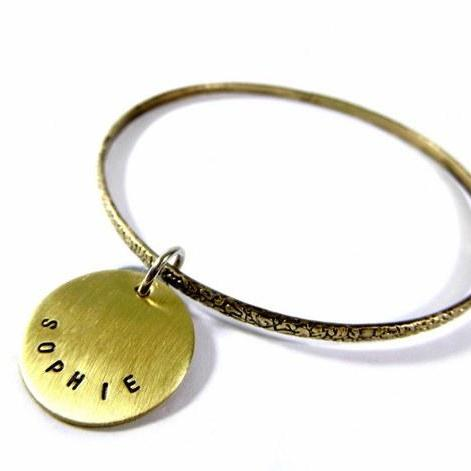 Hand Stamped Jewelry - Personalized Bracelet Adjustable with Your Text